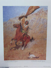"96'REMINGTON ART POSTER:NATIVE AMERICAN INDIAN BRAVE-8"" X10""/NEW/Wrapper"