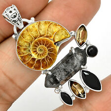 Fossil - Ammonite 925 Silver Pendant  Jewelry PP9225