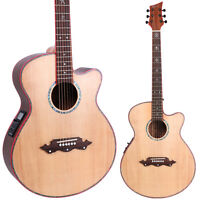 Lindo Dragon Solid Spruce Top Electro Acoustic Guitar with Integrated Preamp