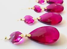 5 Magenta Teardrop Chandelier Crystals Prisms Wedding Decor Suncatcher Ornament