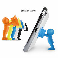 Universal 3D Man Stand For Mobile Tablet Holder Mini Smartphone Plunger Sucker
