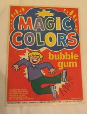 Gumball Machine - Display Card Magic Colors American chewing Gum - vintage