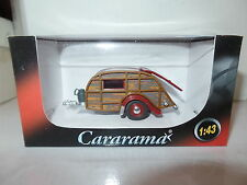Cararama Oxford 1/43 Scale Caravan 2 Red & Brown Woody Gas Bottle