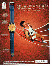 PUBLICITE ADVERTISING 104  1996  SWATCH  montres SEBASTIAN COE JO ATLANTA