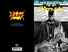 BATMAN V3 #1 2016 ZAPP EXCLUSIVE TONY HARRIS BLACK & WHITE VARIANT IN-STOCK!
