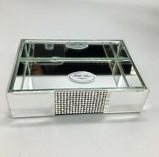 Bella Lux Mirror Rhinestone Crystal Soap Dish Bathroom Bath Vanity Accessory NEW