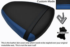 ROYAL BLUE & BLACK CUSTOM FITS SUZUKI TL 1000 R 98-02 REAR LEATHER SEAT COVER