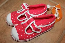 NWT Gymboree Ciao Puppy Size 7 Red Dot Canvas Tennis Shoes