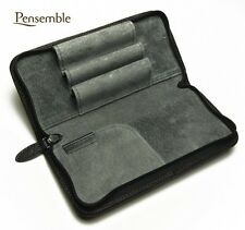 "Pilot (NAMIKI) Round Zipper Cowhide Leather Pen Case ""Pensemble"" Black PSPC-01-B"