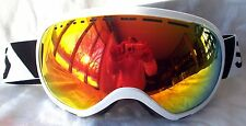NEW $130 Scott Mens Off Grid Winter White Snow Ski goggles anon Orange Fire Lens