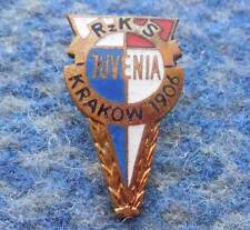 JUVENIA KRAKOW POLAND RUGBY MOTORCYCLE CHESS WEIGHTLIFTING 1970's GOLD PIN BADGE