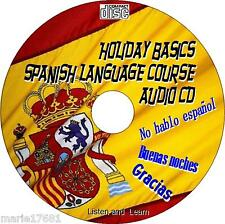 HOLIDAY SPANISH LANGUAGE EASY TO LEARN COURSE FOR CAR HOME WORK ETC NEW AUDIO CD