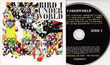 UNDERWORLD Bird 1 UK 10-track promo CD Tong & Rogers SBTRKT Remixes UNPLAYED