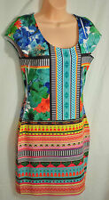 women's fire los angeles dress size JR medium unique imprinted fitted dress sexy