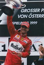Eddie Irvine Hand Signed Ferrari 12x8 Photo F1 2.