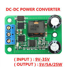 12V/24V to 5V 5A DC-DC Voltage Regulator Converter Buck Module Car Acid Battery