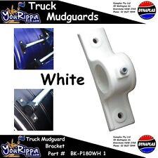 WHITE PLASTIC TRUCK MUDGUARD HANGER BRACKET KIT OIL TANKER BIG RIG SEMI TRAILER