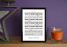 Framed - The Janoskians - That's What She Said - Poster Art Print - 5x7 Inches