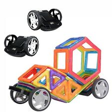2pcs Child Toys Former Magnetic Building Block Magformer Wheels Educational Toys
