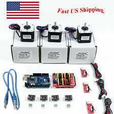 Arduino CNC Kit w/ Atmega16u2 UNO+Shield+ Stepper motors DRV8825 Endstop GR