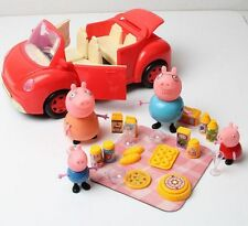 4 Figures Peppa Pig Family Car Picnic Toy Doll Child Kids UK Party Favour Toys