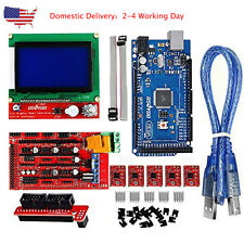 US 3D Printer Kit with RAMPS 1.4 Mega 2560 A4988 12864 LCD for Arduino RepRap