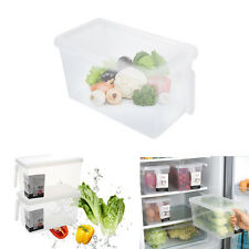 Kitchen Sealed Crisper Refrigerator Plastic Handle Food Storage Box Containers J