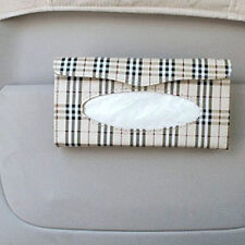 Auto Car sun visor Tissue box accessories holder Paper napkin clip- PU leather