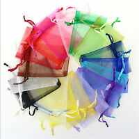 25PCS  7*9CM Organza Gift Bag Jewelry Pouch Wedding Favor NEW