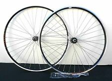 27 x 1 1/4 Front & Rear 6/7 spd Bike Clincher wheelset RIM w Q.R. Black