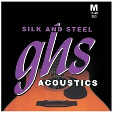 GHS Strings 350 Silk and Steel Medium Acoustic Guitar Strings (11-48)