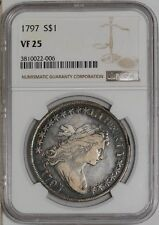 1797 Draped Bust Dollar $ Vf25 Ngc