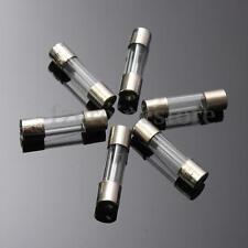 100Pz Surtido Fusibles Coche Cristal Fusión Rápida Eléctrica Tubo Fast-blow Caja