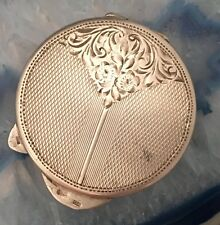 BEAUTY Art Deco c1920 Sterling Silver .835 Round Pill / Snuff Box GERMANY - L017
