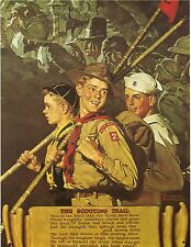 Norman Rockwell BSA Boy Scout Print SCOUTING TRAIL 1939