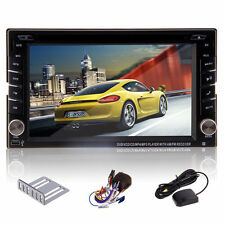 HD 1080P Touch Screen Universal Double Din Car DVD GPS Bluetooth iPod USB TV+Map
