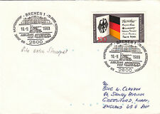 (24096) Germany Train / Railways Cover - 1989 Bremen