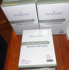 "1 BOX OF 10 SIMPURITY CALCIUM ALGINATE STERILE WOUND DRESSINGS 4""x5"" EXP 10/2018"