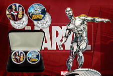 Marvel Superheros - Iron Man & Silver Surfer JFK Kennedy Half Dollars Coin Set