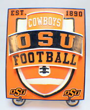 Osu Cowboys Football Licensed Collegiate Wall Plaque And Table Stand #80771