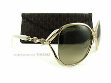 New Gucci Sunglasses GG 4250/N/S J5GED Gold Ivory Authentic