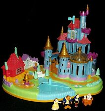 Vintage Polly Pocket Disney 1997 Beauty and the Beast Castle & Figures Excellent
