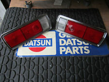 DATSUN 68 510 OEM USDM Coupe Tail Light Set (2x, Lt. & Rt.) NOW W/ BETTER METAL!