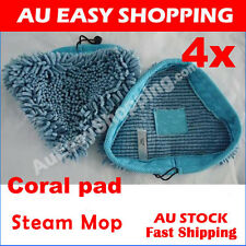 4X Blue Coral Washable Cloth Pads  MicroFiber Floor Steam Mop Pad String H2O X5