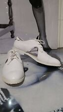 "WOMEN WHITE SHOES/BOOTS/SNEAKERS ""SLVR ADIDAS"" REAL LEATHER EU 41.5 UK 7 1/2"