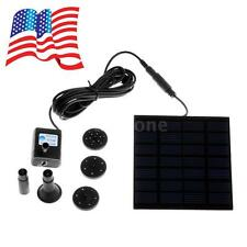 Solar-Powered Pump Fountain Pool Water Pump Garden Plants Watering Kit 6V LT