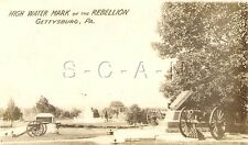 Original 1910s-20s Sepia Real Photo- High Water Mark of the Rebellion- Cannon