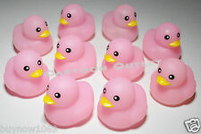 10 PC BABY SHOWER FAVORS RUBBER DUCKS RECUERDOS PARTY FAVORS PINK GIRLS LOT