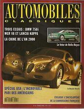 AUTOMOBILES CLASSIQUES 66 MG RV8 BMW 750i E38 DELAHAYE 135 MGR V8 LANCIA KAPPA