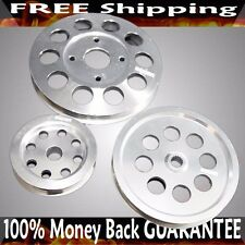 Silver Crank Pulley Kits for RB20 / RB25DETS/ RB26 ENGINE ONLY